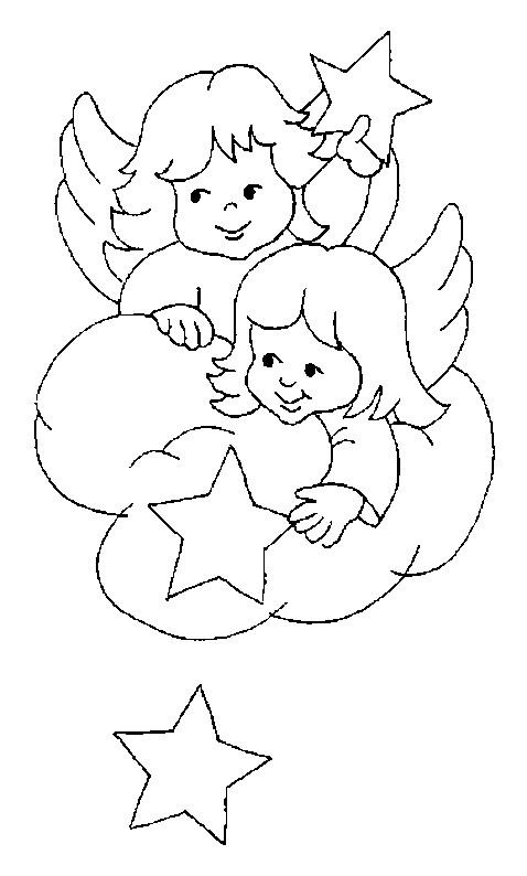 Coloriage et dessins gratuits Baptême et Les Anges à imprimer