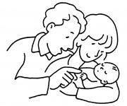 Coloriage Baptême facile