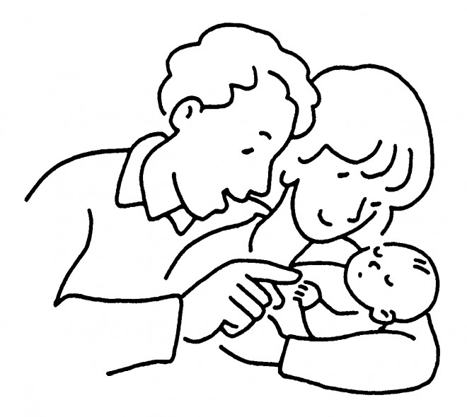 Coloriage et dessins gratuits Baptême facile à imprimer