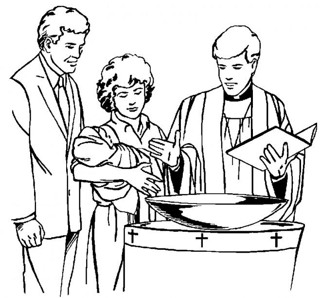 Coloriage et dessins gratuits Baptême garçon à imprimer