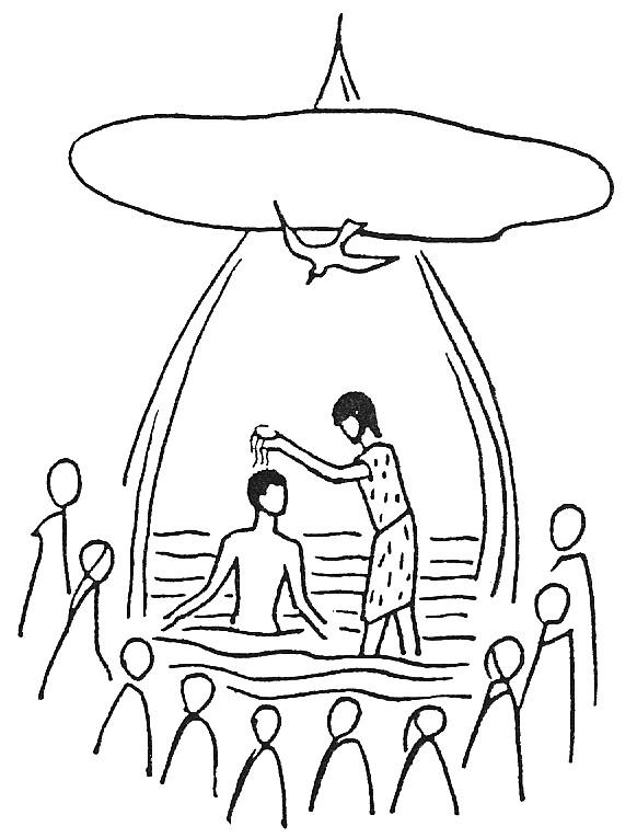Coloriage et dessins gratuits Baptême Jésus à imprimer