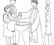 Coloriage Baptême maternelle