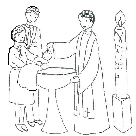 Coloriage et dessins gratuits Baptême maternelle à imprimer