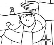 Coloriage et dessins gratuit Baptême religieux à imprimer