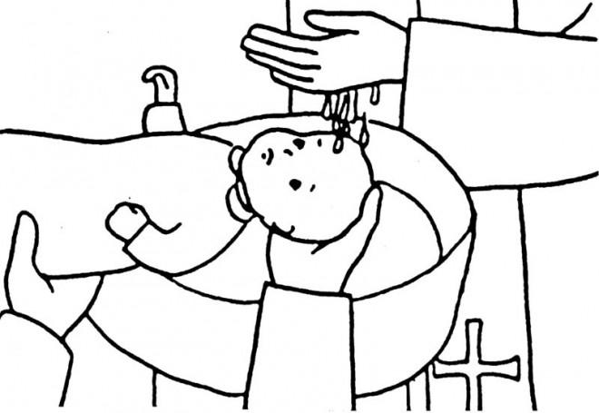 Coloriage et dessins gratuits Baptême religieux à imprimer