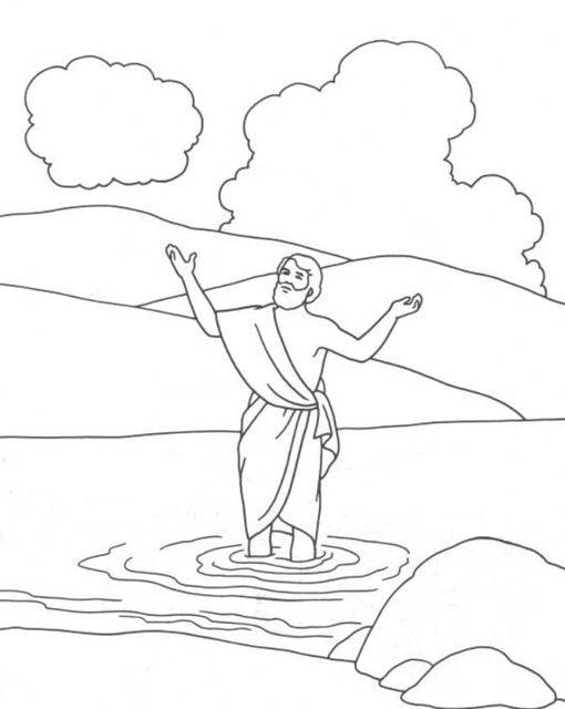 Coloriage et dessins gratuits Baptême Saint Jean Baptiste à imprimer