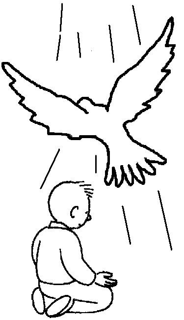 Coloriage et dessins gratuits Baptême simple à imprimer