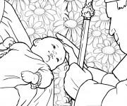 Coloriage et dessins gratuit Illustration Baptême catholique à imprimer