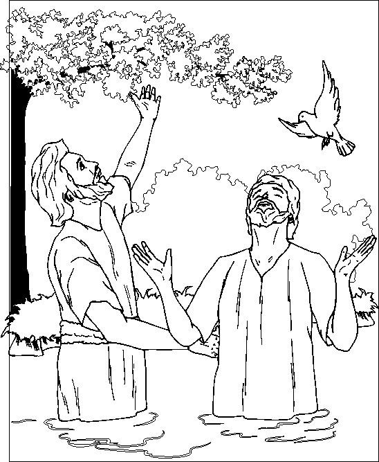 Coloriage et dessins gratuits Jésus et le Pigeon à imprimer
