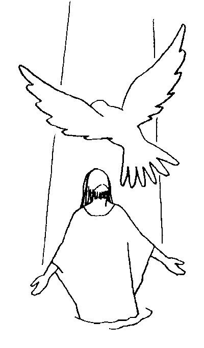 Coloriage et dessins gratuits La Colombe et Jésus-Christ à imprimer
