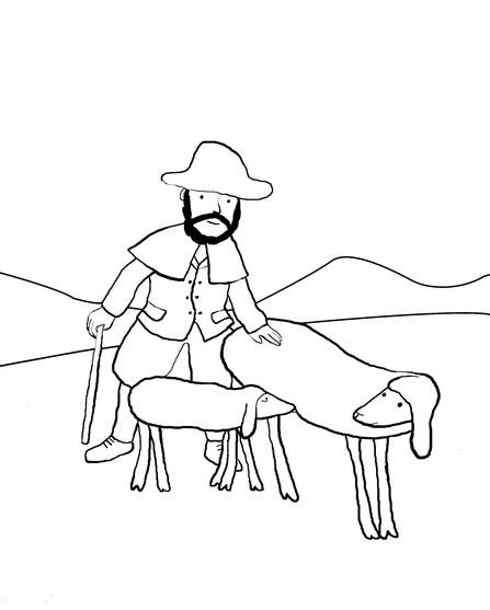 Coloriage et dessins gratuits Le bon berger à imprimer