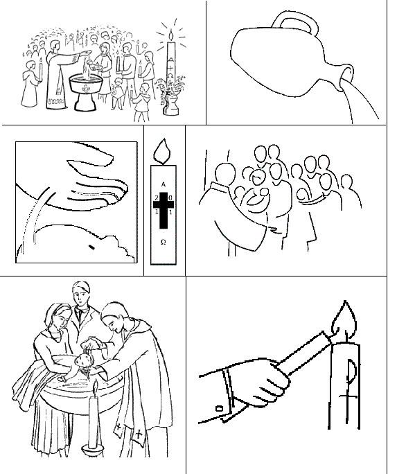 Coloriage et dessins gratuits Le rituel d'un baptême à imprimer