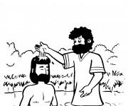Coloriage Les Rituels Baptême de Jésus