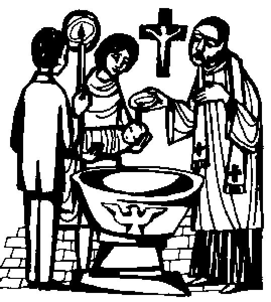 Coloriage et dessins gratuits Les Rituels de Baptême en noir à imprimer