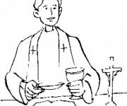 Coloriage Ministre du Baptême