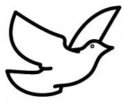 Coloriage Pigeon vecteur