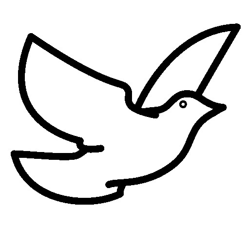 Coloriage et dessins gratuits Pigeon vecteur à imprimer