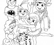 Coloriage Carnaval 15