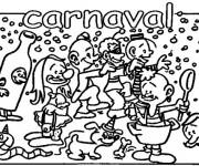 Coloriage et dessins gratuit Carnaval amusant à imprimer