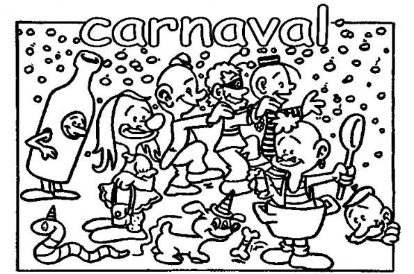 Coloriage et dessins gratuits Carnaval amusant à imprimer