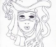 Coloriage et dessins gratuit Carnaval au crayon à imprimer