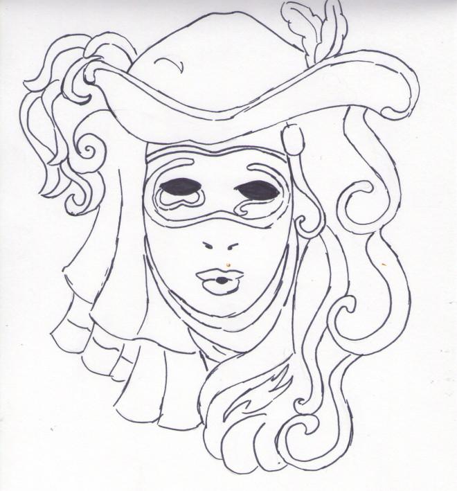 Coloriage et dessins gratuits Carnaval au crayon à imprimer