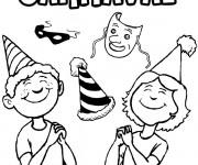 Coloriage et dessins gratuit Carnaval en couleur à imprimer