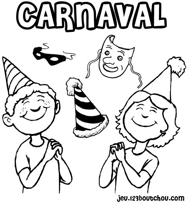 Coloriage Carnaval En Couleur Dessin Gratuit A Imprimer