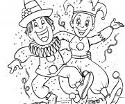 Coloriage et dessins gratuit Carnaval en hiver à imprimer
