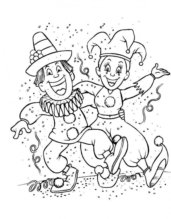 Coloriage Carnaval En Hiver Dessin Gratuit à Imprimer