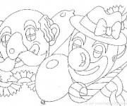 Coloriage et dessins gratuit Carnaval en noir et blanc à imprimer