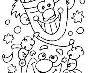Coloriage et dessins gratuit Carnaval et Les Clowns comiques à imprimer