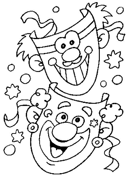 Coloriage et dessins gratuits Carnaval et Les Clowns comiques à imprimer