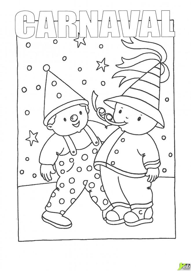 Coloriage Carnaval pour enfant dessin gratuit à imprimer