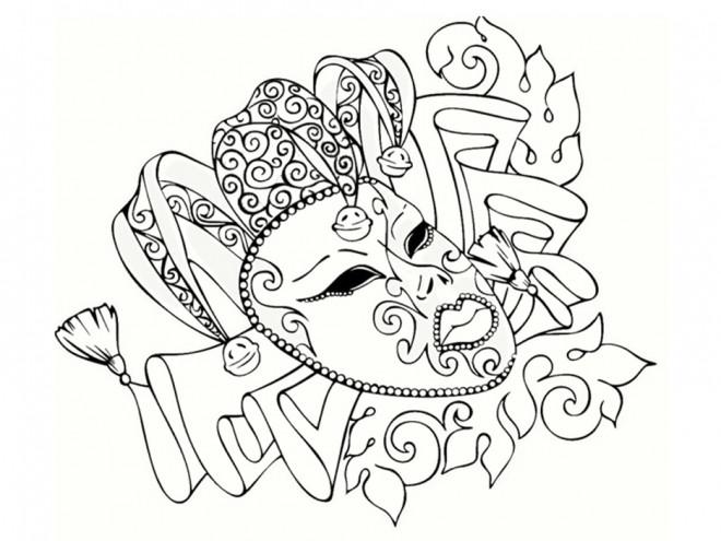 Coloriage et dessins gratuits Carnaval stylisé à imprimer