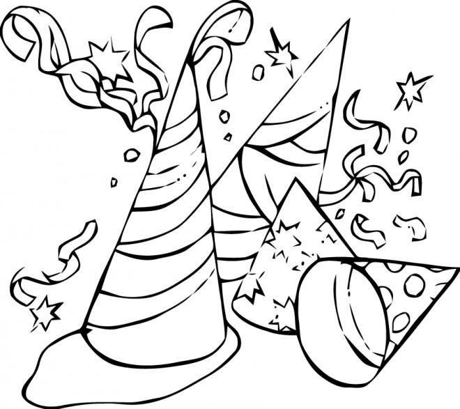 Coloriage chapeaux de carnaval dessin gratuit imprimer - Dessins de carnaval ...