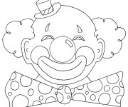 Coloriage Clown de Carnaval
