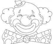 Coloriage et dessins gratuit Clown de Carnaval à imprimer