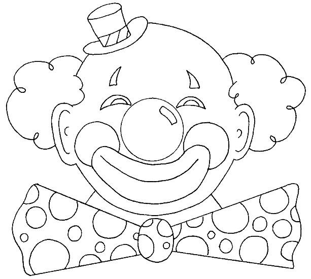 Coloriage Clown de Carnaval dessin gratuit à imprimer