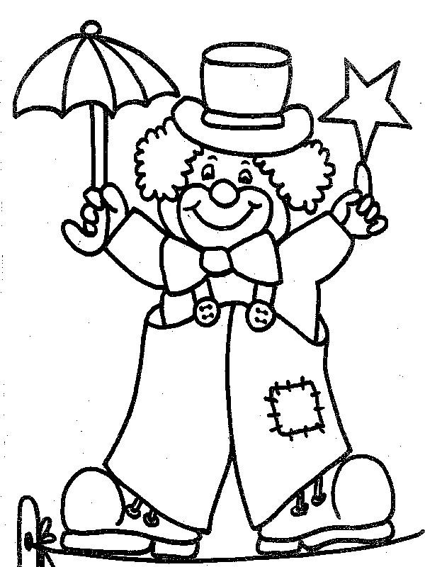 Coloriage Carnaval Rigolo.Coloriage Clown Rigolo Dessin Gratuit A Imprimer