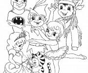 Coloriage et dessins gratuit Déguisement pour Carnaval à imprimer