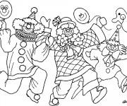Coloriage et dessins gratuit Des clowns humoristiques font leur show à imprimer
