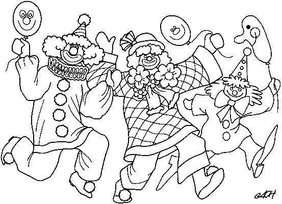 Coloriage et dessins gratuits Des clowns humoristiques font leur show à imprimer