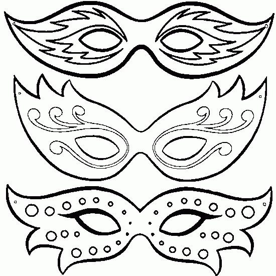 Coloriage Des Masques magnifiques de Carnaval de Venise