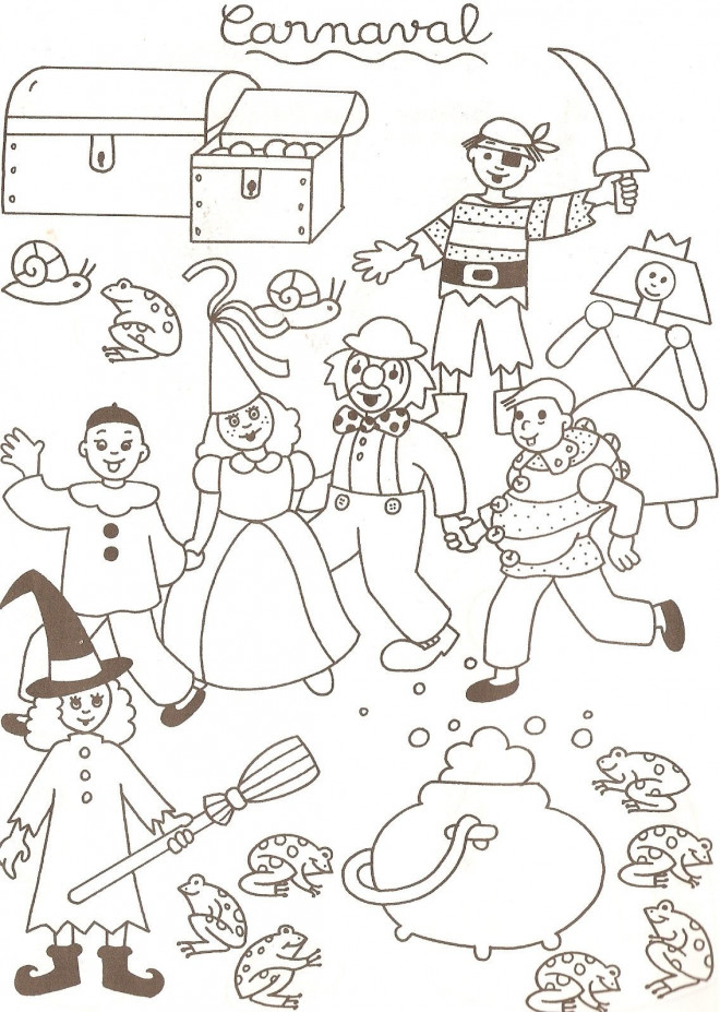 Coloriage et dessins gratuits Illustration Carnaval à imprimer