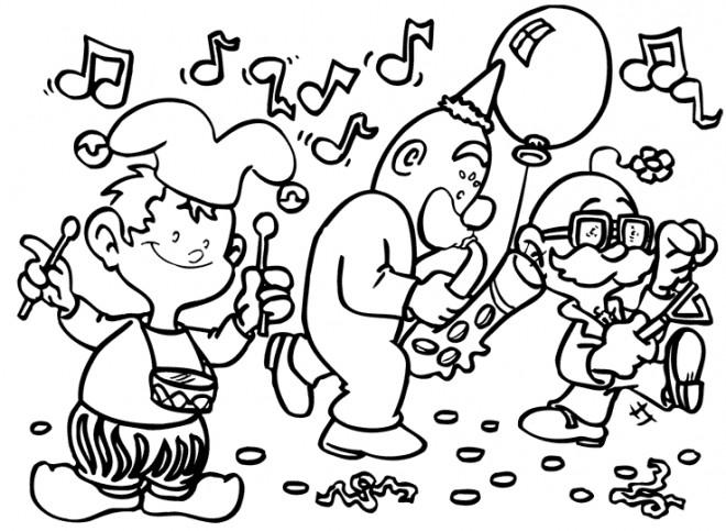 Coloriage et dessins gratuits Jouissance de Carnaval à imprimer
