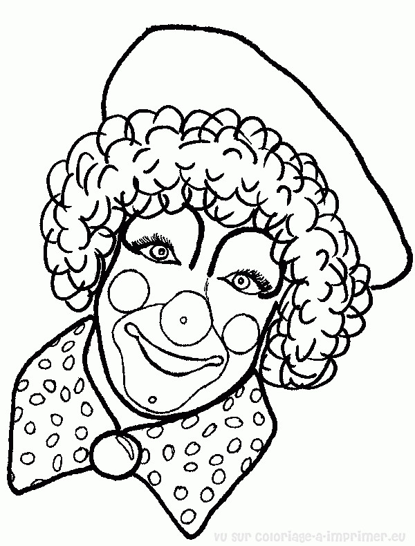Coloriage et dessins gratuits Le Clown te regarde à imprimer