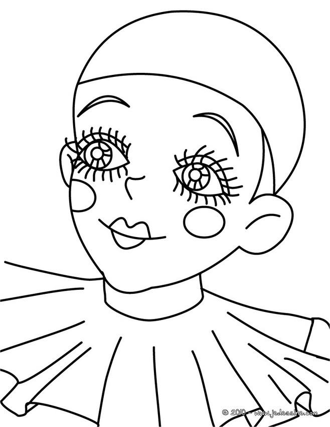 Coloriage et dessins gratuits Le Petit Clown Carnaval à imprimer