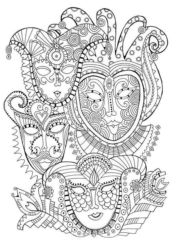 Coloriage mandala carnaval dessin gratuit imprimer - Dessins carnaval ...