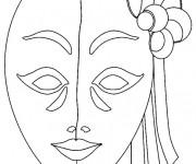 Coloriage et dessins gratuit Masque pour Carnaval de Venise à imprimer